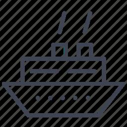 cruise, ship, transport, transportation, vehicle, vessel icon