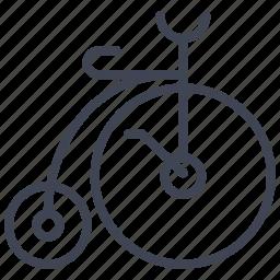 bike, transport, transportation, vehicle, vintage icon