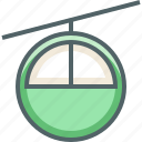 aerial, cable, electric, transport, travel, vehicle icon