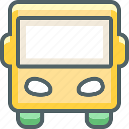 autobus, bus, public, school, transport, transportation, vehicle icon