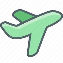 airplane, flight, off, plane, take, transport, travel icon