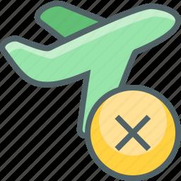 airplane, flight, off, plane, remove, take, travel icon
