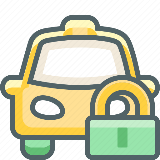cab, car, lock, protection, safe, secure, taxi icon