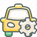 cab, car, configuration, preferences, setting, settings, taxi icon