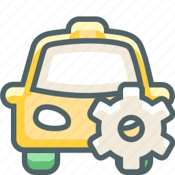 cab, car, configuration, preferences, setting, settings, taxi icon