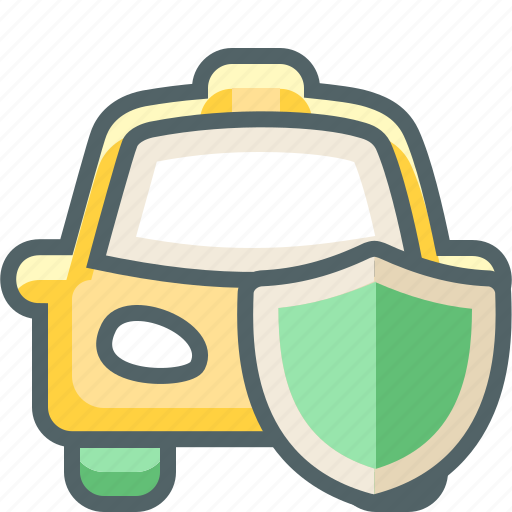 cab, car, protection, safety, secure, shield, taxi icon