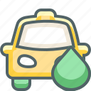 cab, car, drop, gas, petrol, taxi, water icon