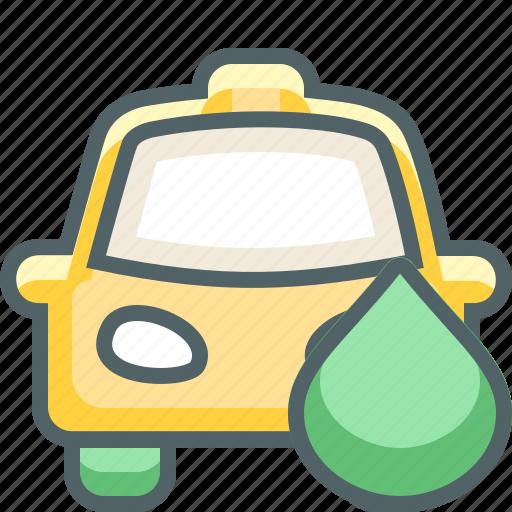 cab, car, drop, gas, petrol, taxi, water icon