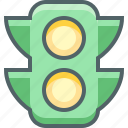 lamp, light, traffic, transport, transportation, travel, vehicle icon