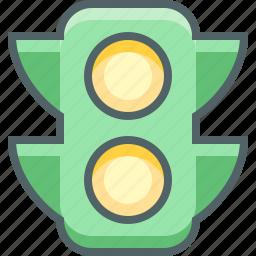 lamp, light, traffic, transport, transportation, travel, vehicle icon