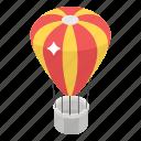 hot air balloon, parachute airship, fire balloon, adventure, aircraft icon