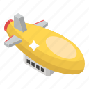 air transport, airship, blimp, drigible, spaceship, zeppelin icon
