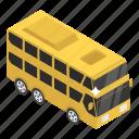 autobus, charabanc, coach, double decker, motorbus, omnibus, public transport icon