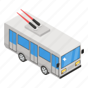 autobus, charabanc, gripcar, motorbus, street car, tramcar, trolleybus icon