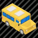 autobus, charabanc, coach, motorbus, omnibus, school bus, school transport icon