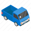 freight container, goods container, industrial transport, mini truck, pickup truck icon
