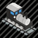 goods train, locomotive train, rail transport, railway, railway track, transport