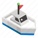 boat, cruise ship, delivery ship, freight container, logistics, motorboat, water cargo icon