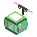 aircraft, cable transport, chair lift, electronic chairlift, funicular, gondola, ski lift icon