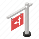 direction board, direction indicator, road sign, roadboar, signboard, traffic sign icon