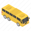 autobus, charabanc, coach, motorbus, motorcoach, omnibus, public transport icon