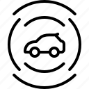 autonomous, camera, car, car sensor, sensor, technology, transportation icon
