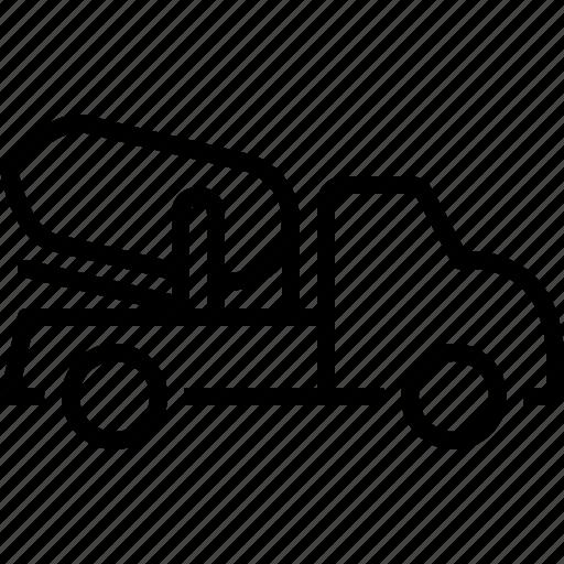 architecture, cement, cement truck, construction, machine, truck, vehicle icon