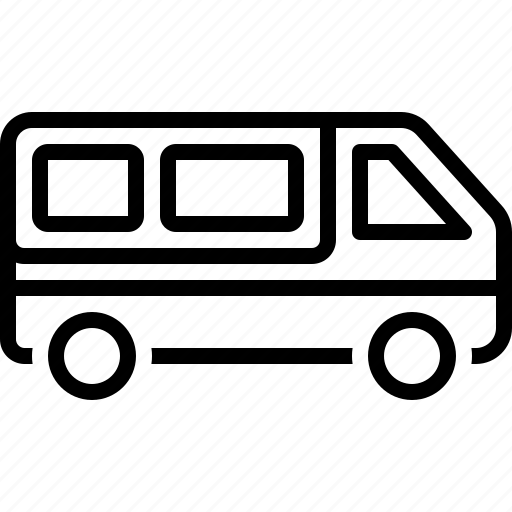 automobile, cargo, minibus, transport, van, vehicle icon