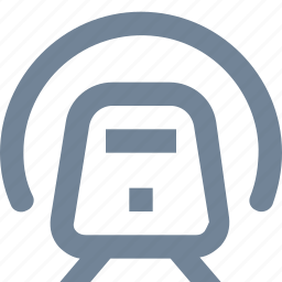 electric, metro, public, train, transportation, tunel, underground icon