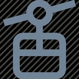 gondola, leisure, mountain, transportation icon