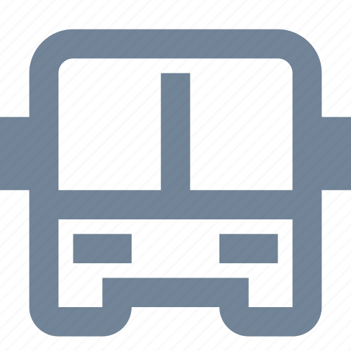 bus, front view, public, transportation, vehicle icon