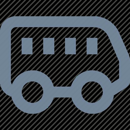 auto, bus, car, minibus, public, transportation, vehicle icon