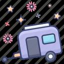 caravan, conveyance, transport, vanity van, vehicle