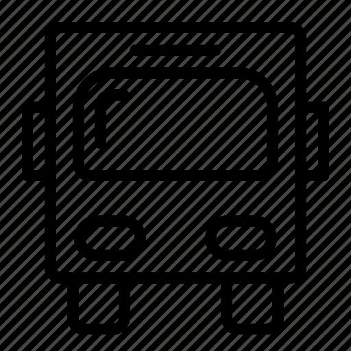 bus, transportation, trip, vehicle icon