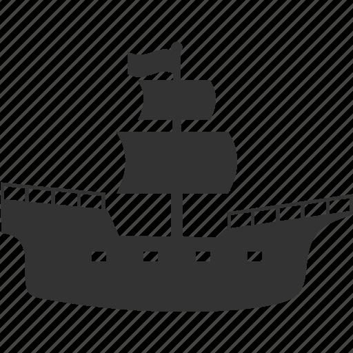 pirate, sea, ship icon