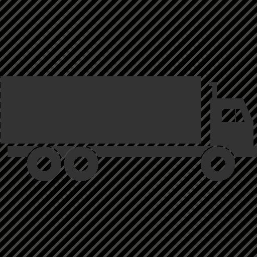 trailer, transport, truck icon
