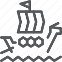 barque, noah, sail, transport, travel, vehicle, water icon