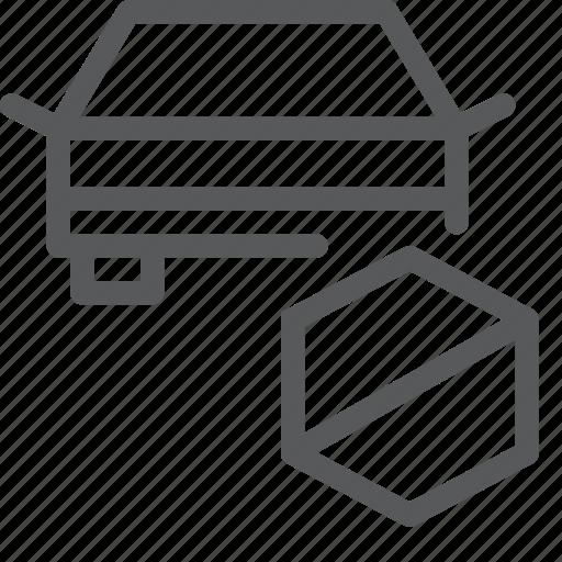 block, car, delete, remove, transport, travel, vehicle icon