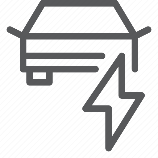 car, charge, electric, service, thunderbolt, transport, travel, vehicle icon