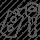 accessory, car, key, lock, remote, transport, travel icon