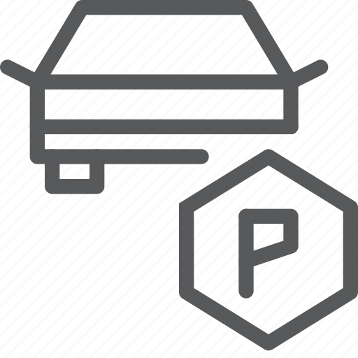 car, park, transport, transportation, travel, vehicle, zone icon