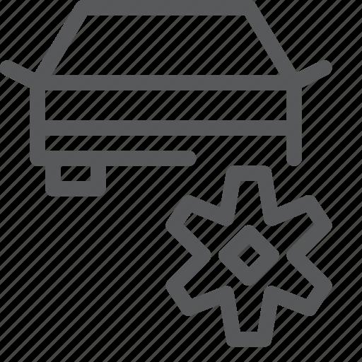 car, fix, part, repair, setting, transport, travel, vehicle icon