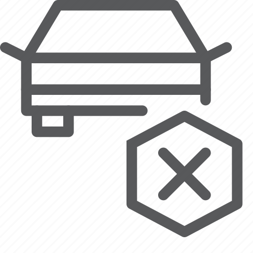 car, delete, part, remove, substract, transport, travel, vehicle icon