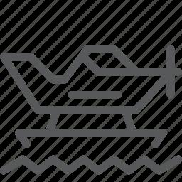 floatplane, fly, sail, transport, travel, vehicle, water icon