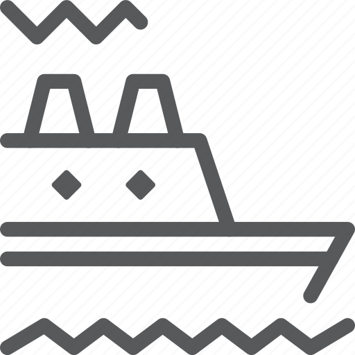 cruiser, sail, sea, ship, transport, travel, vehicle, water icon