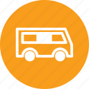 bus, car, mini bus, minibus, vehicule icon