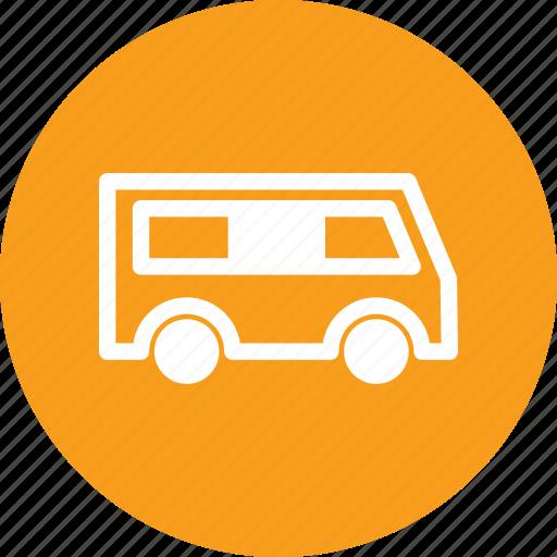 bus, car, mini bus, minibus, vehicule icon