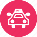 car, lyft, ride, rider, taxi, vehicule icon