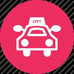 car, lyft, ride, rider, taxi, vehicule icon