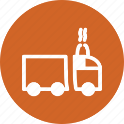 lorry, shipping, transportation, truck, vehicule icon